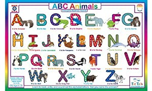 Amazon.com: Amazing Animal ABC Placemat by Tot Talk: Toys