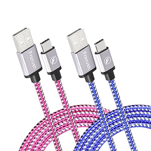USB Type C Cable,Frerush Colorful Fast Charging Cable USB C to USB A (6ft) with 56k Ohm Pull-up Resistor for Samsung Galaxy S8+,Google Pixel 2,LG V30 G6 5,Nintendo Switch (Rose Blue) Review