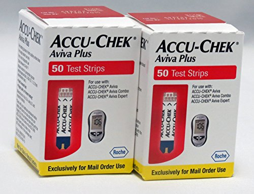 ACCU-CHEK Aviva Plus Mail Order Test Strips, 2 Boxes of 50