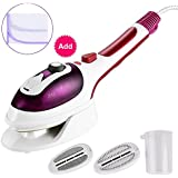 Handheld Clothes Steamer, Bangcool Ceramic Soleplate Garment Steamer Household Mini Steamer Portable Iron Steamer Humidifier Fast Heat-up with Resistant Ironing Pad for Home Travel(Purple)
