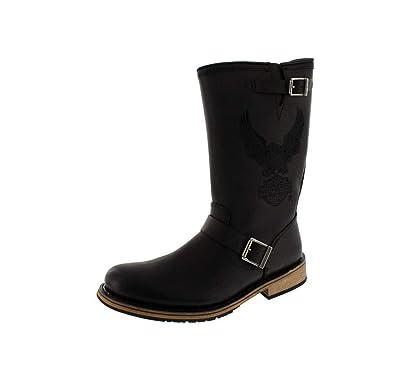 Harley Men Clint Davidson Black Boots 80nOXNkwP