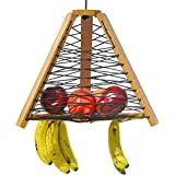 Basket and stand tier 2 bowl display for fruit hanging holder kitchen large rack tower storage vegetable wedding wood baskets and stands tiered