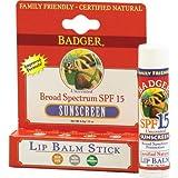 BADGER SPF 15 Lip Balm Sunscreen