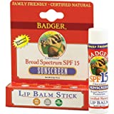 Sunscreen W Zinc Oxide BADGER SPF 15 Lip Balm Sunscreen