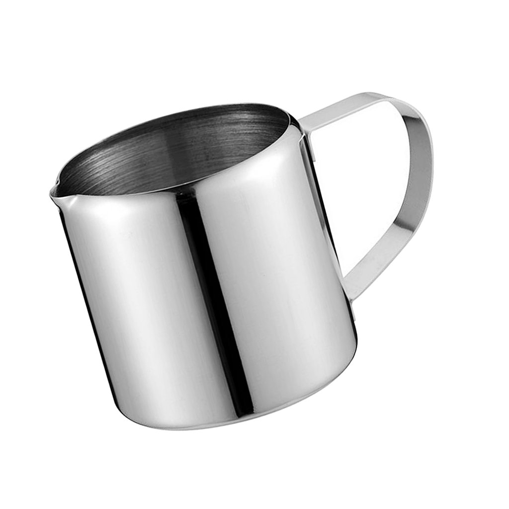 Fenteer Small Milk Frothing Pitcher Jug, Stainless Steel, Suitable for Coffee, Latte and Frothing Milk, Silver - Silver, 1oz