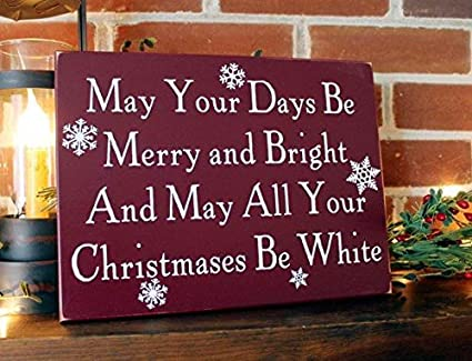 Amazon Com Emily May Your Days Be Merry Bright White