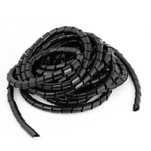 6.5M Flexible Black PE Polyethylene Spiral Cable Wire Wrap Tube 12mm - Spiral Tube