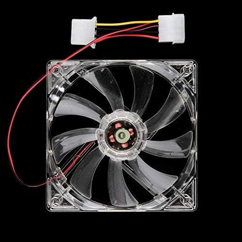 PC Computer Fan Quad 4 LED Light 120mm PC Computer Case Cooling Fan Mod Quiet Molex Connector Easy Installed Fan 12V