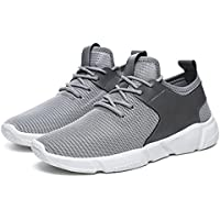 sunfei Fashion Zapatos de correas Deportes: Correr Zapatillas Solid para hombre