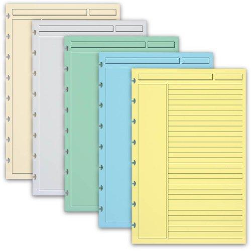 Levenger 300 Circa Multicolor 1/4'', Ruled Refill Sheets, Junior (ADS10160 JNR) by Levenger