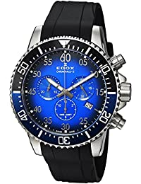 Men's 'Chronorally-S' Quartz Stainless Steel and Rubber Sport Watch, Color:Black (Model: 10227 3NBUCA BUBN)