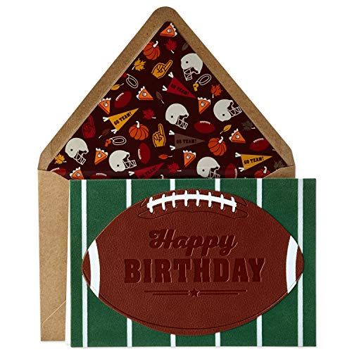 Hallmark Signature Birthday Card for Him (Football)
