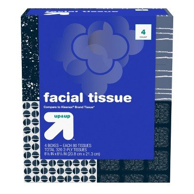 Facial Tissue 80ct 4pk - up&Up153; (Compare to Kleenex174; Brand Tissue)