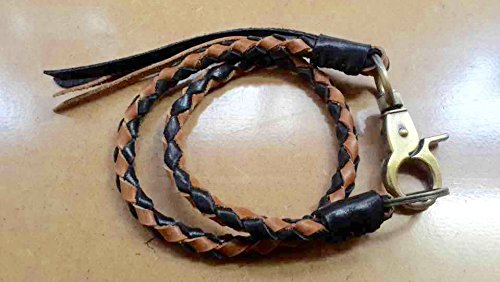Leather lanyard, Braided Lanyard, Wallet Chain, Wallet Strap, Lanyard, Braided Leather Keychain, Leather Weave, Braid Lanyard, Leather Chain