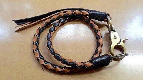 Leather lanyard, Braided Lanyard, Wallet Chain, Wallet Strap, Lanyard, Braided Leather Keychain, Leather Weave, Braid Lanyard, Leather Chain