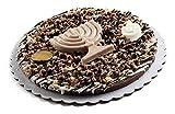 Fresh Gourmet Premium Quality Dark Praline Happy Chanukah Holiday Chocolate Gift Pie Set- Best Sweet Treat Fancy Decorative Topping Party Dessert Tart (7 Inch)