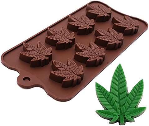 Marijuana Leaf Silicone Candy Mold Ice Cube Trays