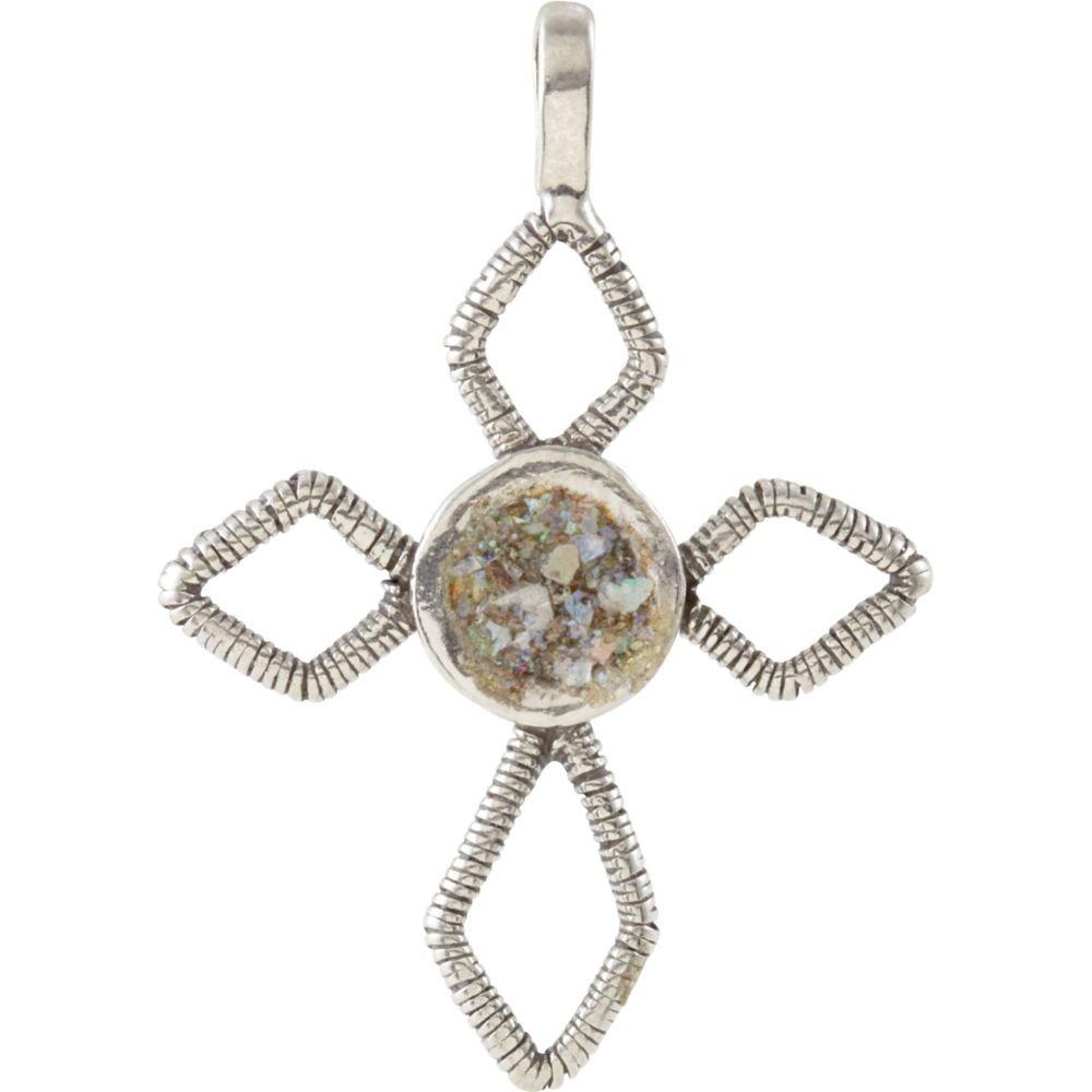 STU001- Ancient Roman Glass Cross Pendant by STU001-