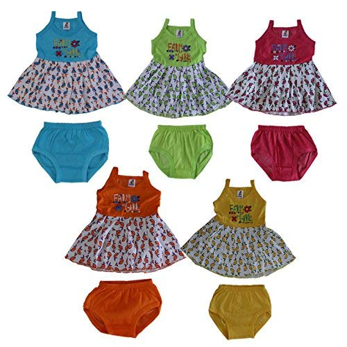 2b9096a00 VINAB Multicolor Cotton Frocks Gown Skirt for Baby Girls(12 to 18 ...