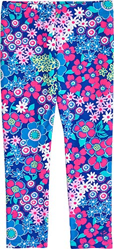 y Wave Swim Tights - Sun Protective (3T- Bold Flowers) (Flower Stripe Tights)