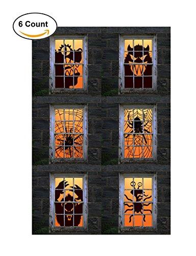 Express Novelties Online 6-Piece Giant Spider Web &
