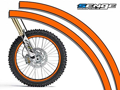 (Senge Graphics Solid Orange rim protector set for one 18 inch rim and one 21 inch rim)