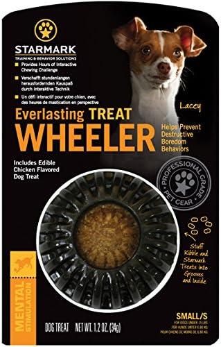 Starmark Everlasting Treat Wheeler Juguete para Perro, pequeño