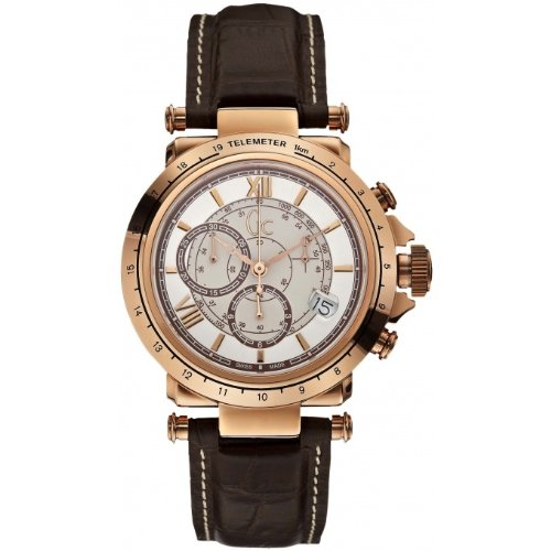 GUESS Gc B1-Class Leather Chronograph Mens Watch X44001G1 - Guess Gc Men Watch