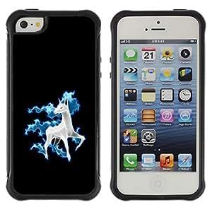 BullDog Case@ cool funny cute horse unicorn fancy Rugged Hybrid Armor Slim Protection Case Cover Shell For iphone 5S CASE Cover ,iphone 5 5S case,iphone5S plus cover ,Cases for iphone 5 5S