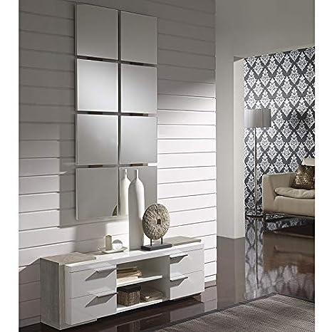 Nouvomeuble Mobile D Ingresso Moderno Bianco Colore Legno Chiaro