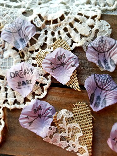 Rustic Boho Baby Shower Decorations Baby Girl Lavender Confetti Table Runner Centerpiece (150 pieces) (Ideas Baptism Table Centerpiece)