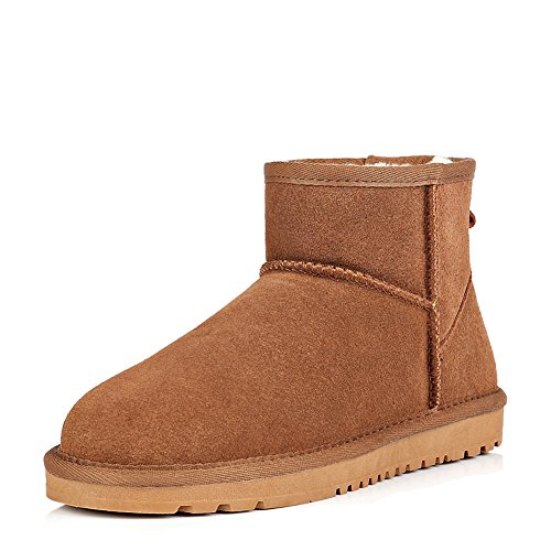 Boots Suede Ankle Mens Suede Casual Brown Winter Casual Ankle Snow Wevans Wevans Winter CHtqnwSPx