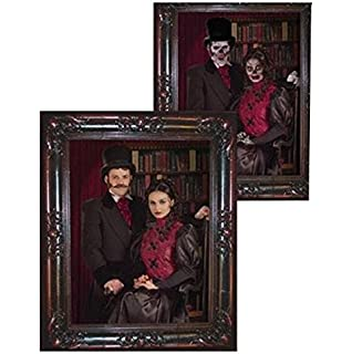 forum novelties haunted lenticular couple moving picture frame 12 x 13 multicolor - Moving Picture Frame