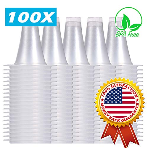 100x Ear Thermometer Probe Covers/Refill Caps/Lens Filters for All Braun ThermoScan Models and Other Types of Digital Thermometers