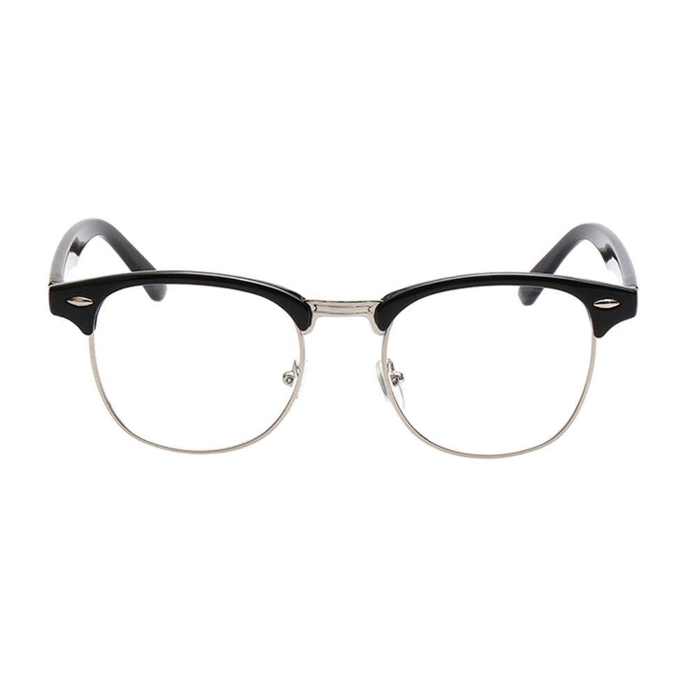 Zhuhaixmy Männer frauen brillen Vintage Retro Klassische Halbrahmen ...