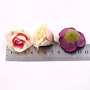 30pcs 4cm Silk Rose Artificial Flower Wedding Home Furnishings DIY Wreath Sheets Handicrafts Simulation Fake Flowers 2