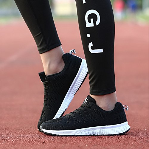 Pengcheng Kvinna Tennisskor Kör Walking Sport Tillfällig Atletisk Sport Lätt Mode Sneaker För Flickor Svart
