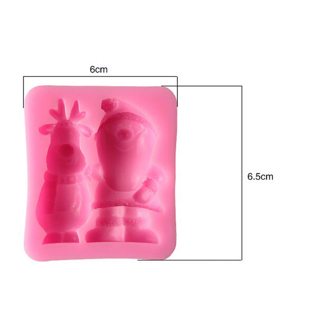 AMY Santa Multifunctional Silicone Cake Mold, Ice Cream Lollipop Model, Baby Food Supplement/Handmade Soap Model DIY Model Tool -66.5cm by AMY (Image #3)
