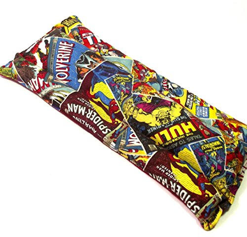[Super Hero Heating Pad - Microwave Rice Pack - Muscle Ache Therapy - Backache Relief - Geeky Hot Cold Pad - Reusable Heating Pad - Sprain Cramp] (Hot Superhero Women)