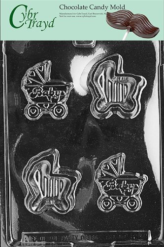 - Cybrtrayd Life of the Party B040 Baby Carriage Pour Box Chocolate Candy Mold in Sealed Protective Poly Bag Imprinted with Copyrighted Cybrtrayd Molding Instructions