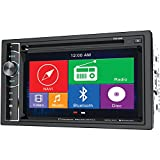 Power Acoustik PDN 626B 6.2-Inch Double-Din In-Dash GPS Navigation LCD Touchscreen DVD Receiver with Bluetooth