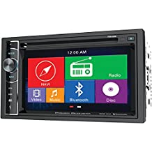 Power Acoustik PDN 626B Double Din AM/FM/DVD/BT 6.2-Inch with Navigation