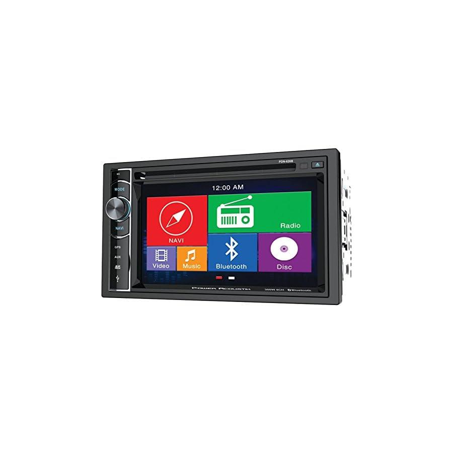 Power Acoustik PDN 626B Double Din AM/FM/DVD/BT 6.2 Inch with Navigation