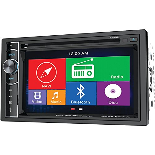 "POWER ACOUSTIK PDN_626B 6.2"" Double-DIN In-Dash GPS Navigati"