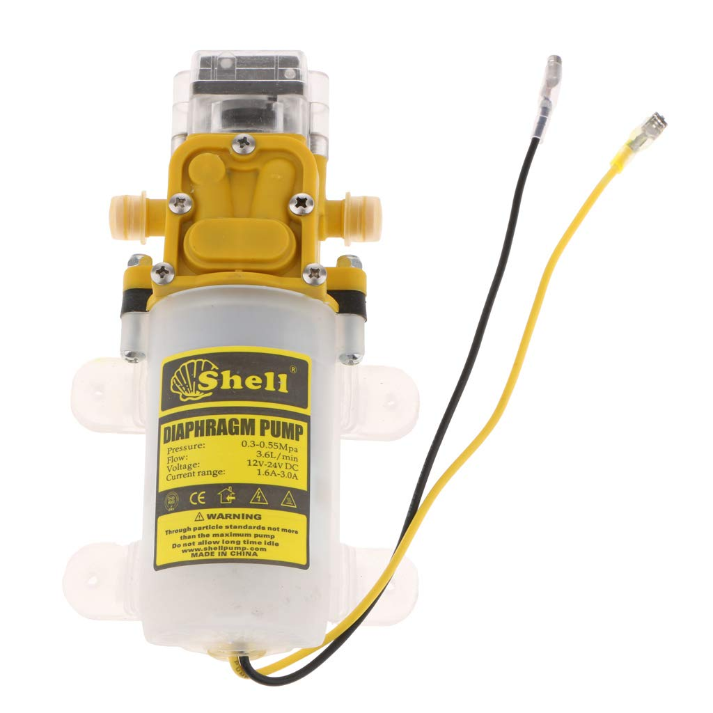 Homyl DC 12V 75 PSI High Pressure Agricultural Diaphragm Water Pressure Sprayer Pump 4L/Min Yellow