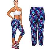 Cheap Stretch Pants;START High Waist Fitness Yoga Sport Pants Printed Stretch Cropped Leggings (us=10)