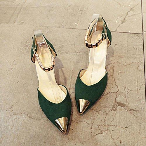 Sandalen Frauen wilde Freizeitschuhe atmungsaktiv zeigten Schuhe mit hohen Absätzen green