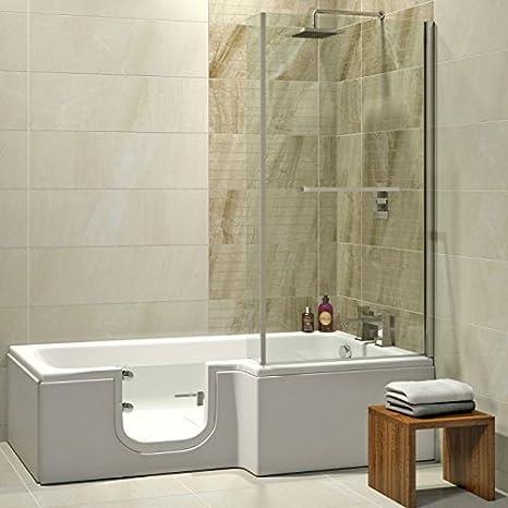 Bagno Completo Con Doccia.Anziani Vasca Da Bagno Con Porta Larna 170 X 85 Cm Completo Con
