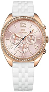 Tommy Hilfiger 1781568 Rose Gold-Tone Silicone Ladies Watch