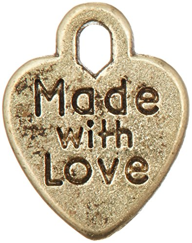 Darice 50-Piece 'Made with Love' Charms, ()